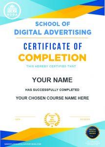 SODA Certificate